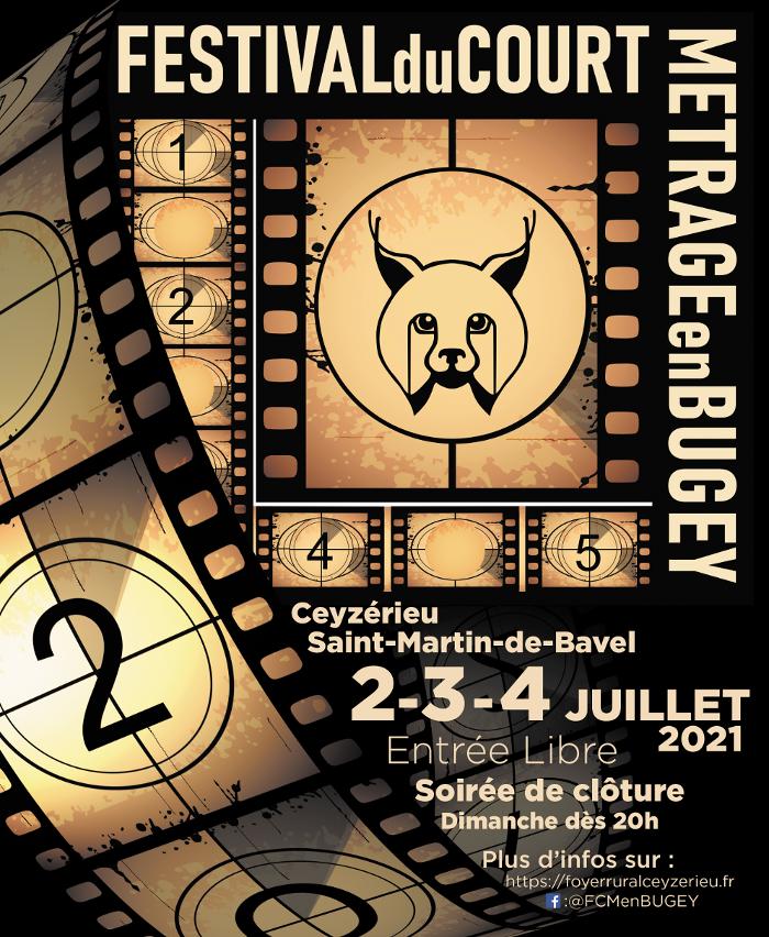 Affiche du festival du court-Métrage en Bugey 2021