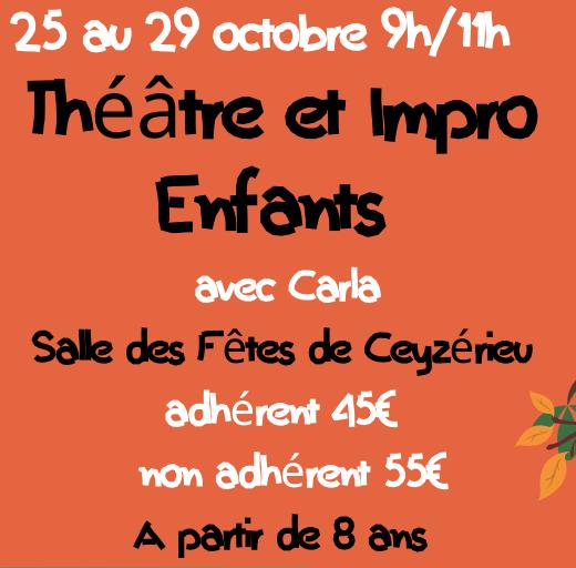 Atelier théâtre et impro Enfats
